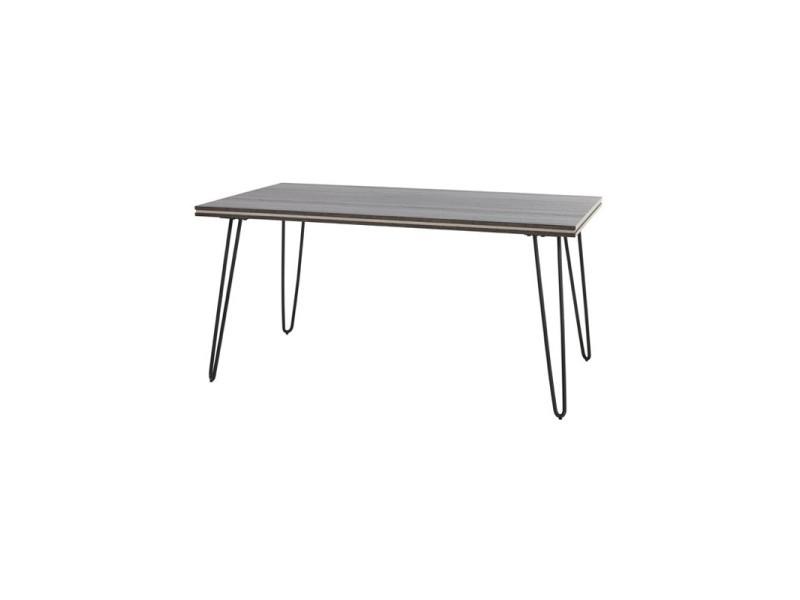 Table de repas 160 cm - lugano - l 160 x l 90 x h 78 - neuf