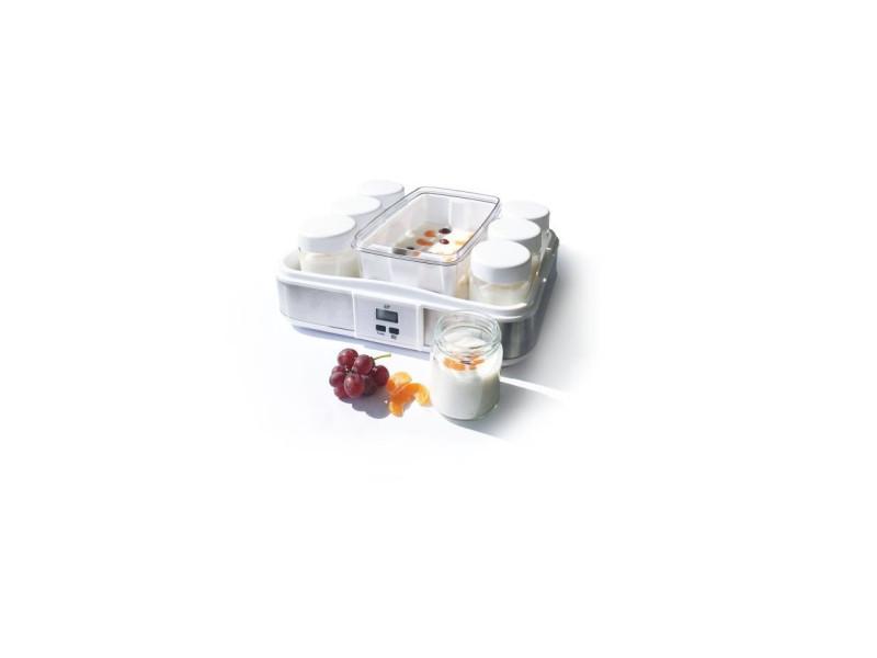 Xj-11101b0 yaourtiere 12 pots + 2 maxi bac - blanc CEYA001
