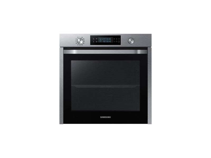 Samsung nv-75k5571bs-four electrique encastrable twin convection-chaleur pulsee-75 l-pyrolyse-classe a-inox