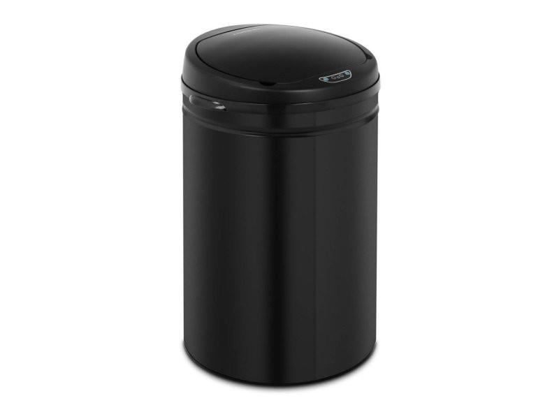 Poubelle automatique 50 litres coloris rouge avec récipient intérieur acier au carbone helloshop26 14_0003104
