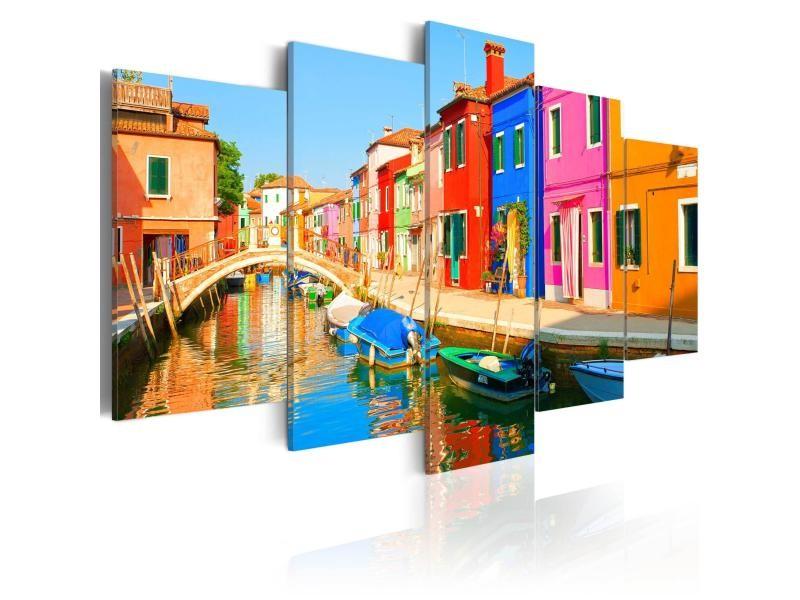Tableau - aux couleurs de l'arc-en-ciel 100x50