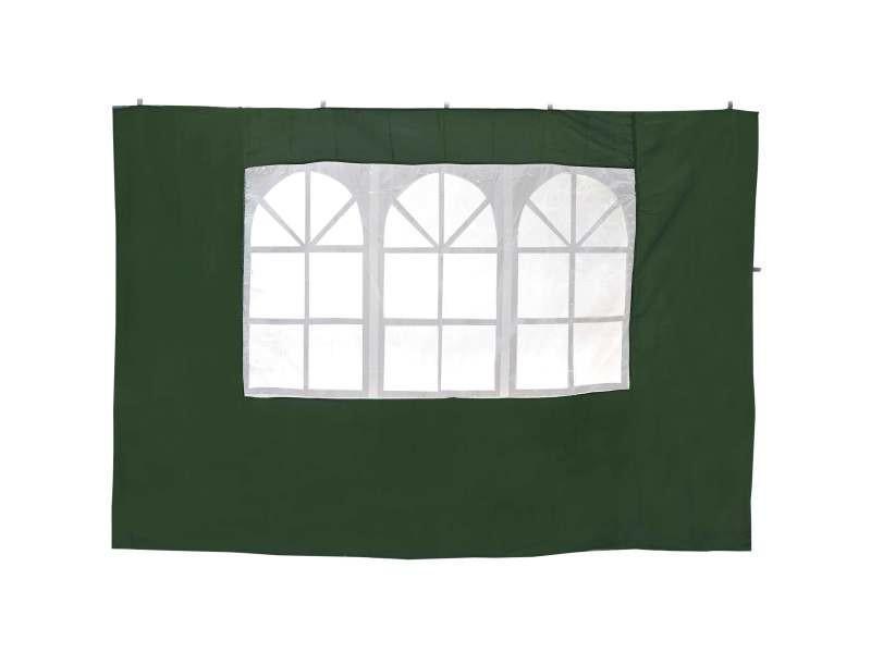 Tentes de réception, voiles d'ombrage lot de 2 côtés pour tente pliable cotés tente de couleur vert