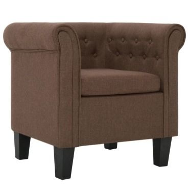 Vidaxl fauteuil avec coussin marron tissu 281303 Vente de