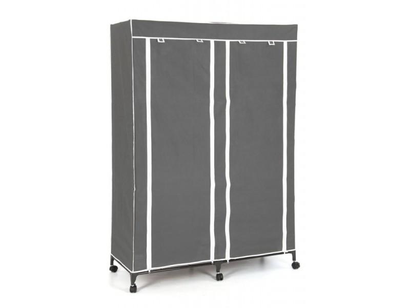 armoire double roulettes vente de penderie en tissu conforama. Black Bedroom Furniture Sets. Home Design Ideas