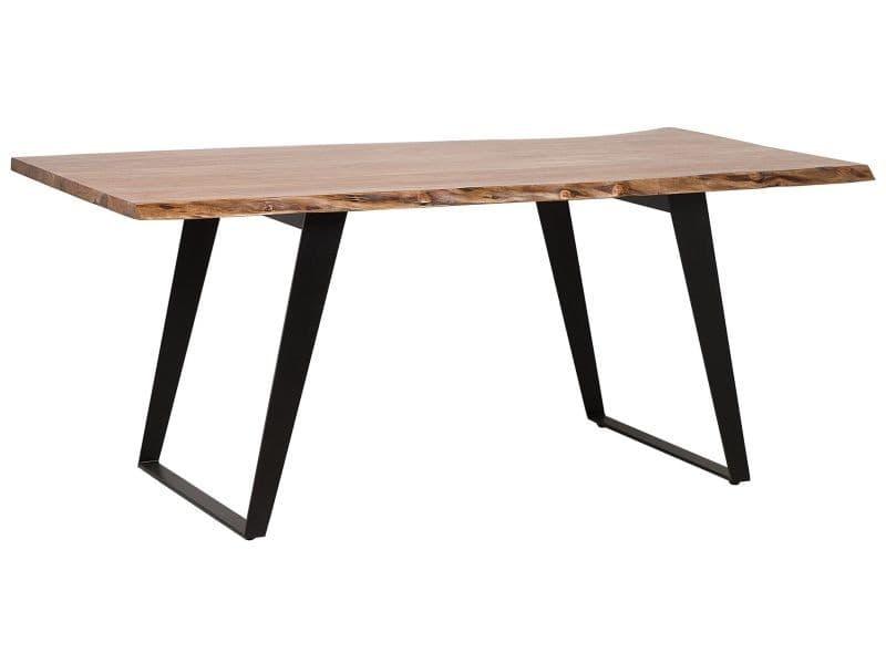 Table 200 x 100 cm plateau en bois jaipur 149199