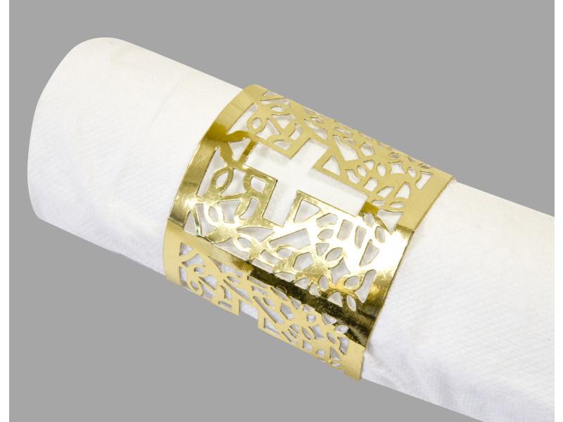 10 lots de 6 décors de serviette communion doré - 17,5 x 5,7 cm VISIODIRECT