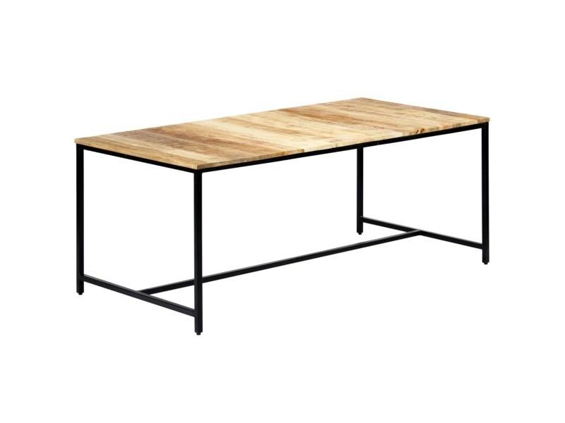 Inedit tables serie tallinn table à dîner 180x90x75 cm bois de manguier massif brut
