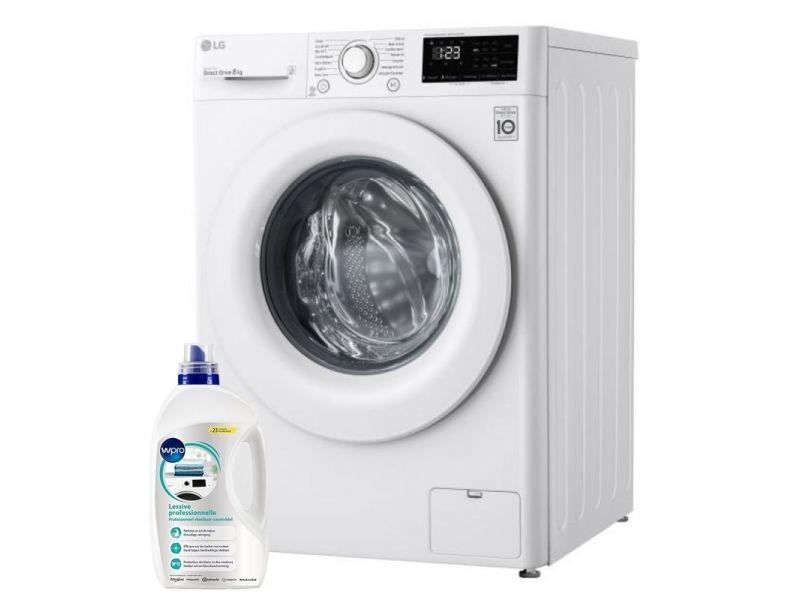 Lg lave-linge frontal 8kg a+++ 1400trs/min tambour 59l direct drive machine à laver hublot