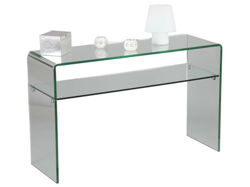 Console en verre, l.120 x p.40 x ht. 75 cm -pegane-