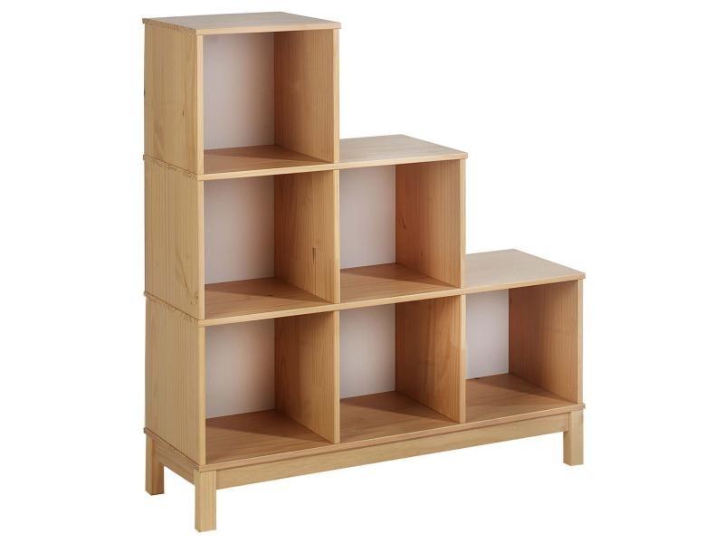 etag re escalier 6 casiers pin massif lasur h tre vente de idimex conforama. Black Bedroom Furniture Sets. Home Design Ideas