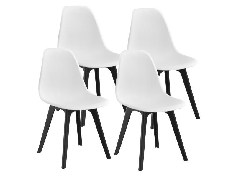 En Casa Set De 4 Chaises Design Chaise De Cuisine Chaise De Salle
