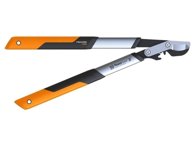 Fiskars - coupe-branches powergear x - l à crémaillère et à lame franche 55 cm - ø 40 mm 112260