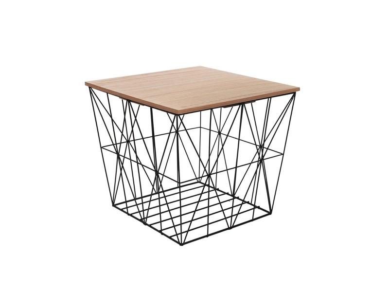 Table filaire carrée noir