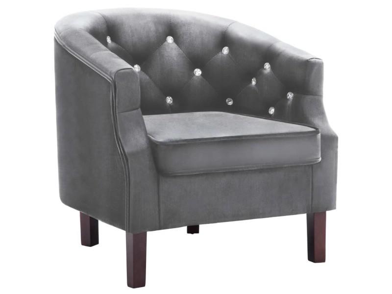 Moderne fauteuils famille la valette fauteuil avec revêtement en velours 65 x 64 x 65 cm anthracite