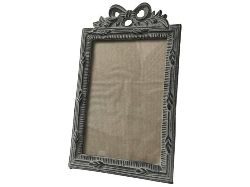 Grand cadre-photo porte-photo de style ancien en métal fonte 30 cm 18034-G