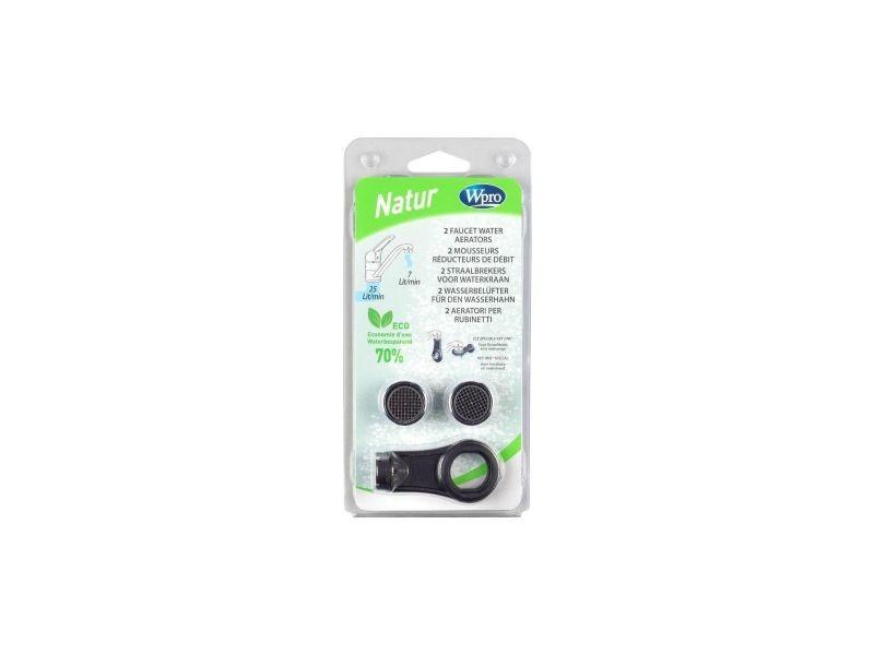 Wpro aer100 kit 2 mousseurs reducteurs de debit + 1 cle - reduction 7litres/min pour 3bars, pour robinets femelles, WPR8015250043297