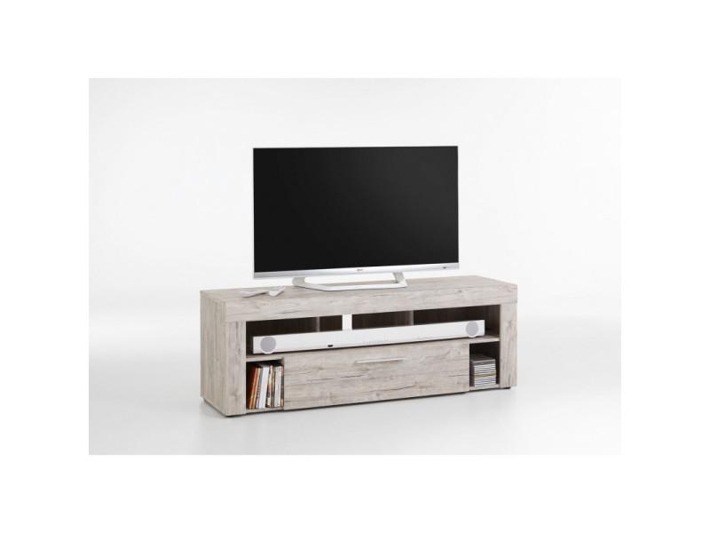 Meuble tv contemporain 150 cm myriam / coloris : blanc