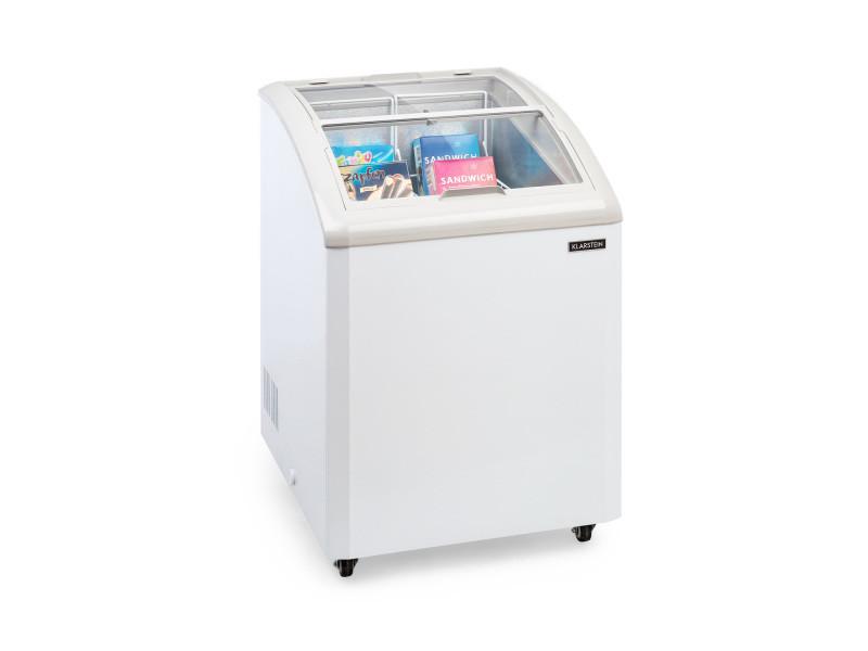 Klarstein pro eispalast congélateur coffre vitré 100 litres -7 niveaux de puissance - blanc