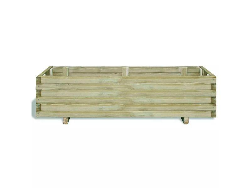 Vidaxl lit surélevé 120 x 40 x 30 cm bois rectangulaire 41661