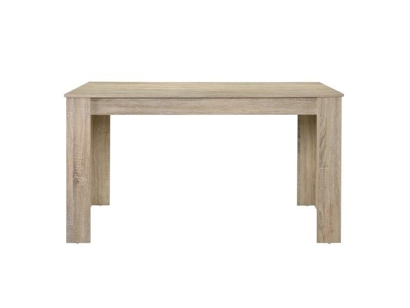 Table de salle à manger robuste nora, chêne clair, 140 x 90cm