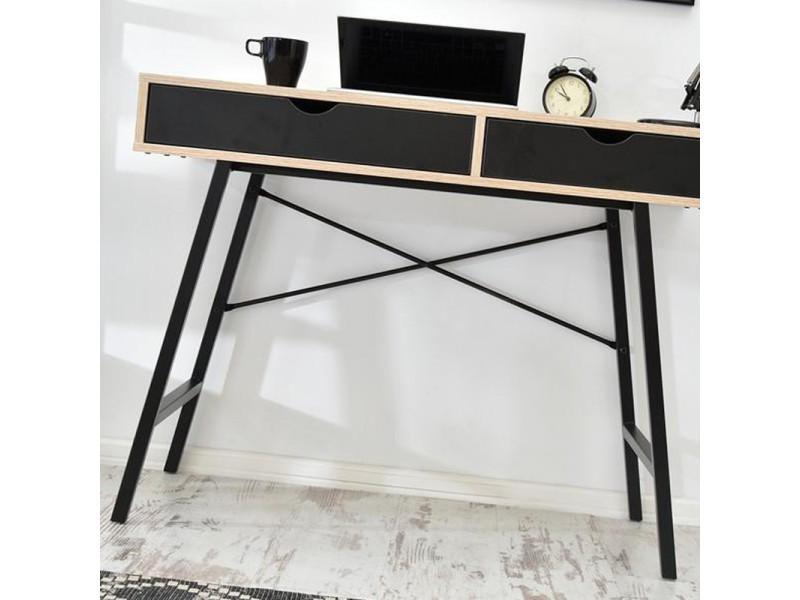 Bureau scandinave bureau design falun cm noir effet