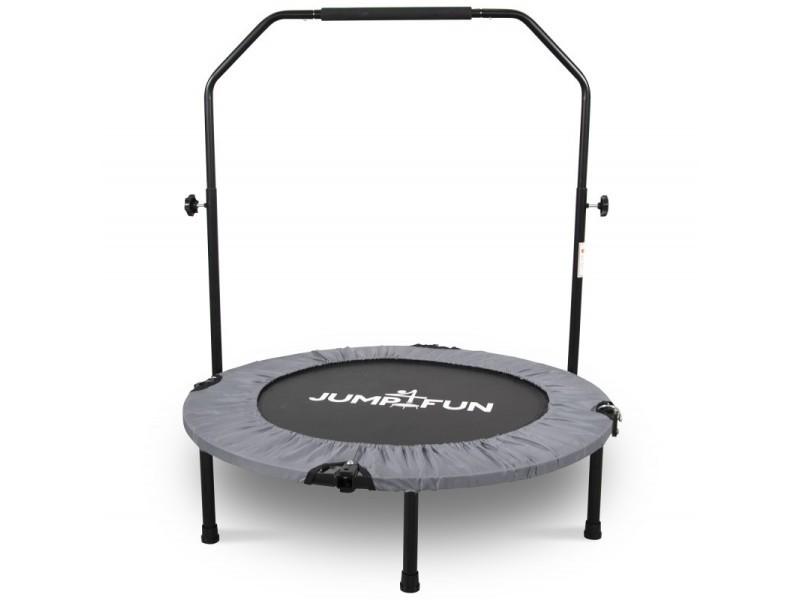 Mini trampoline fitness jump4fun pliable door-bar - ø92cm, gris