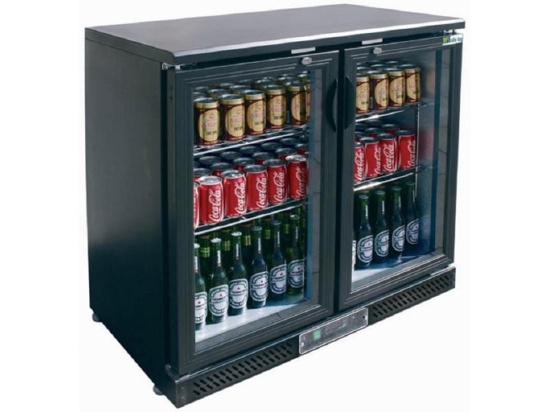 Arrière bar réfrigéré - 2 ou 3 portes battantes - atosa - r600a 2 portes 220 litres vitrée/coulissante