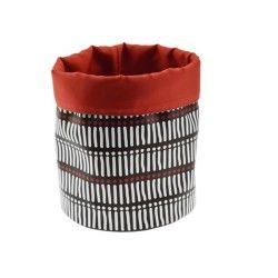 Panier de rangement s - black & red - ethnic
