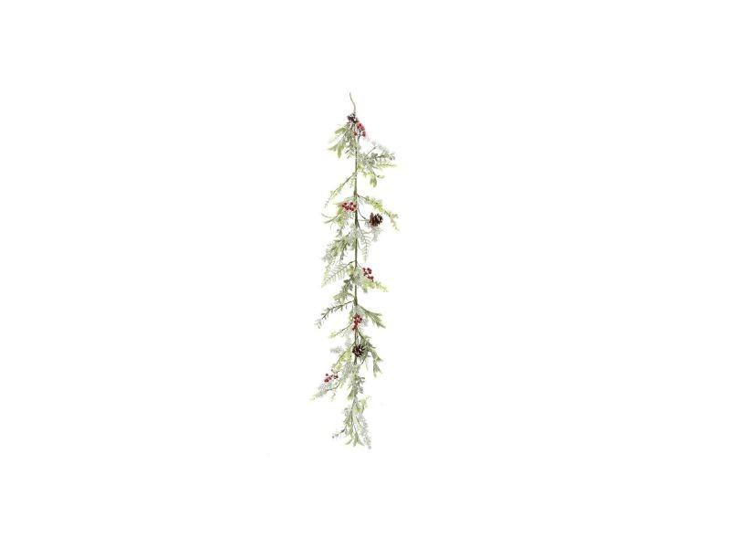 Guirlande de noël design branche naturelle - l. 150 cm - vert