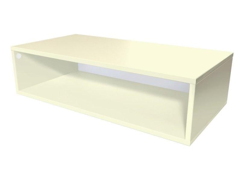 Cube de rangement bois 100x50 cm ivoire CUBE100-IV