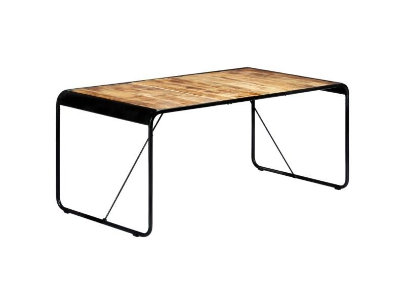 Magnifique tables famille nouakchott table de salle à manger 180x90x76 cm bois de manguier brut