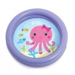 Piscine gonflable ronde pour bébé motif baleine rose