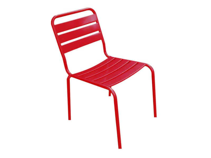 Chaise de jardin fermob en métal rouge montsouris - Vente de Salon ...