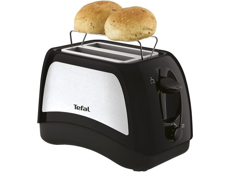 Grille pain avec 2 fentes 850w gris noir