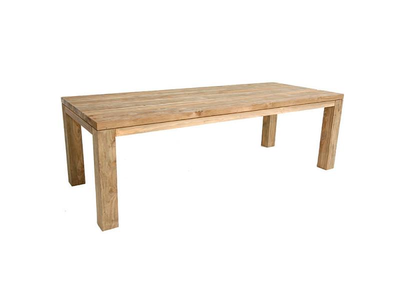 Table en teck massif recyclé 250 x 100 cm callao