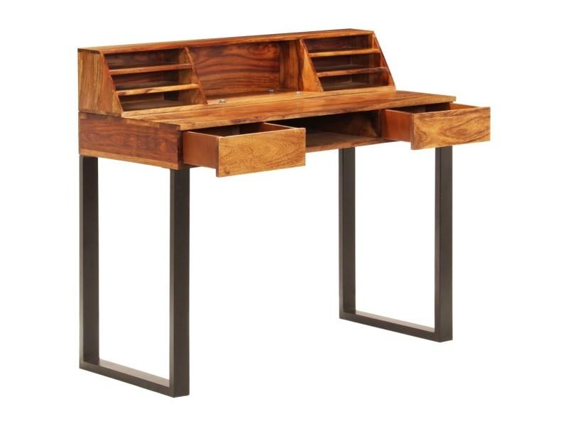 Vidaxl bureau 110x50x94 cm bois solide de sesham et acier 247964