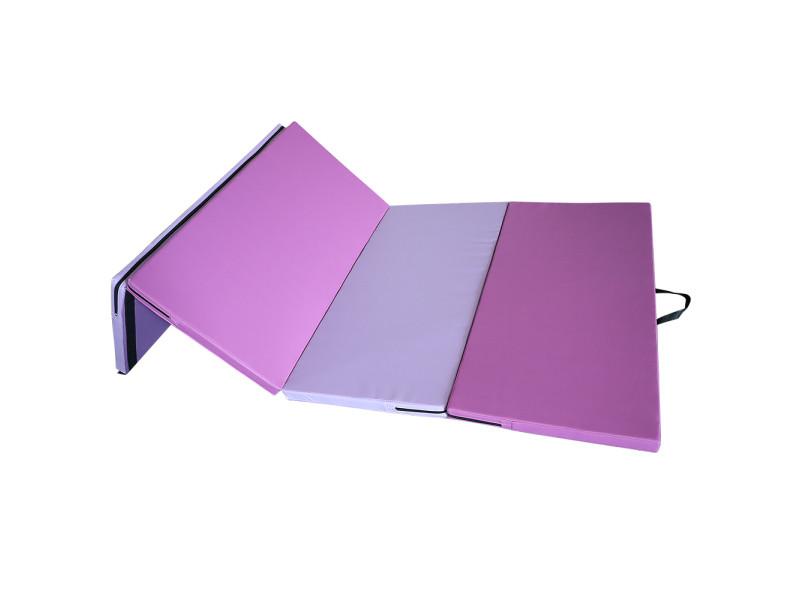 Hombuy tapis de jeu de sol d'exercice pliable confortable tapis de yoga tapis de pratique accueil gymnastique intérieure fournitures de for rose et violet