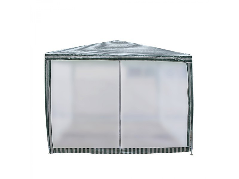 Tente de jardin pergola 3x3m blanc et vert tonnelle, gazebo 199843 ...