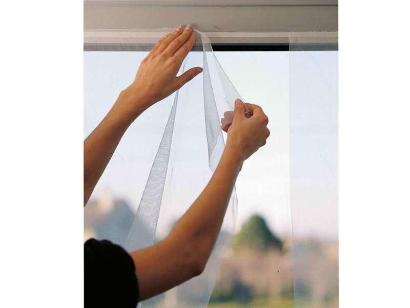 Moustiquaire souple 1 panneau blanc 150 x 300 cm, sans bande adhésive