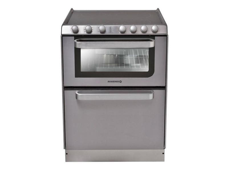 Cuisinière vitrocéramique 4 feux combiné lave-vaisselle 6c - trv60in/u trv60in/u