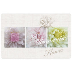 Set de table opaque motif romantic flowers 28 x 44 cm