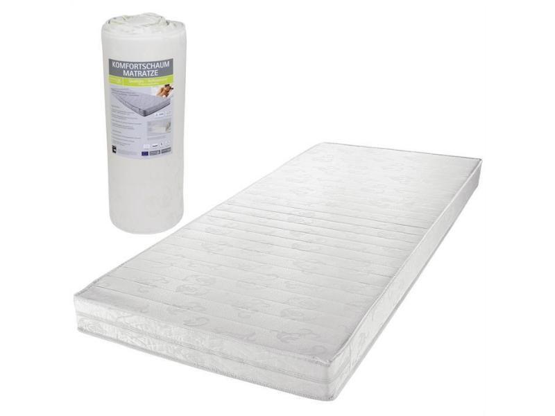 matelas blanc p100 en mousse vendu enroul 90 x 190 cm conforama. Black Bedroom Furniture Sets. Home Design Ideas