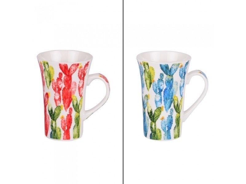 Mug xl 56 cl cactus (lot de 2 assortis) (lot de 2)