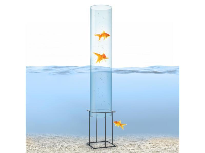 Blumfeldt skydive 100 tour à poissons 100 cm ø 20 cm , colonne en verre acrylique , base métal , transparent PCL2-Skydive 100