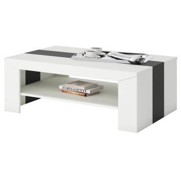table basse de salon lyon en m lamin blanc et noir vente de idimex conforama. Black Bedroom Furniture Sets. Home Design Ideas