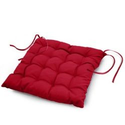 Coussin de chaise assise matelassé 40 x 40 cm rouge