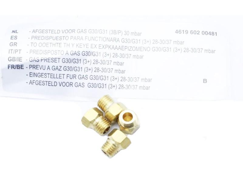 Kit injecteurs g30-29 mbar butane pour table de cuisson whirlpool - 481010684656