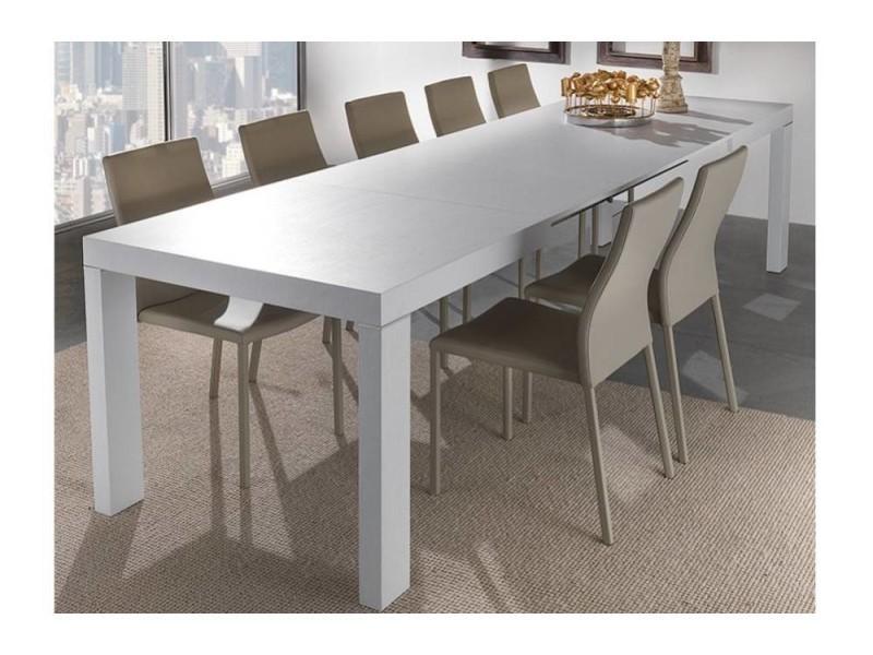 Table repas extensible wind design blanche 167 cm 20100850619