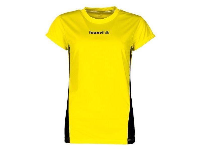 T-shirt de sport stylé taille l t shirt à manches courtes luanvi race jaune