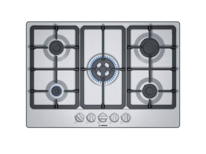 Table de cuisson gaz 75cm 5 feux inox - pgq7b5b90 pgq7b5b90